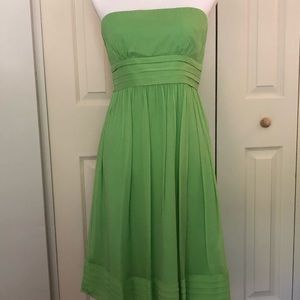 J Crew Silk Strapless Dress